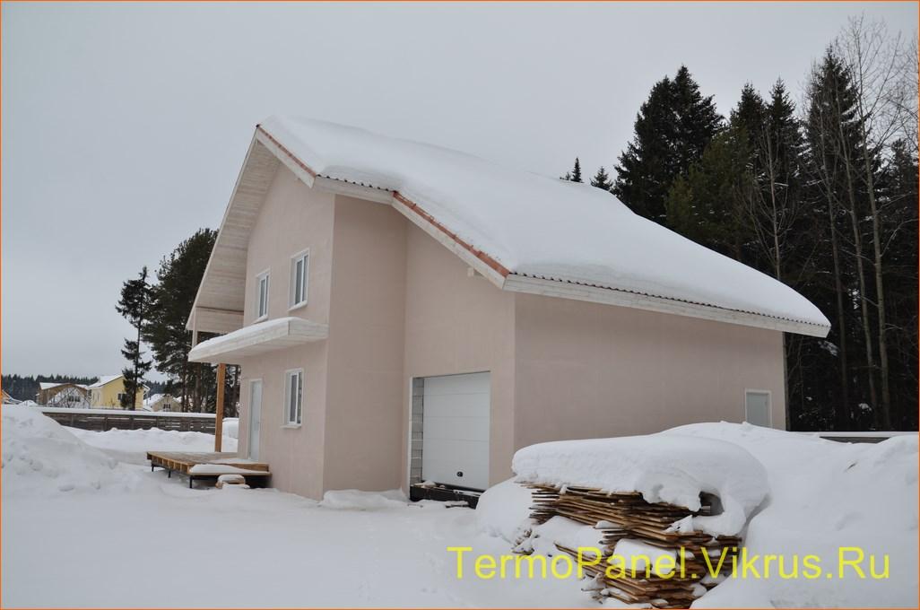фото дома, фасад защищен панелью с акрило-полимерным покрытием 02