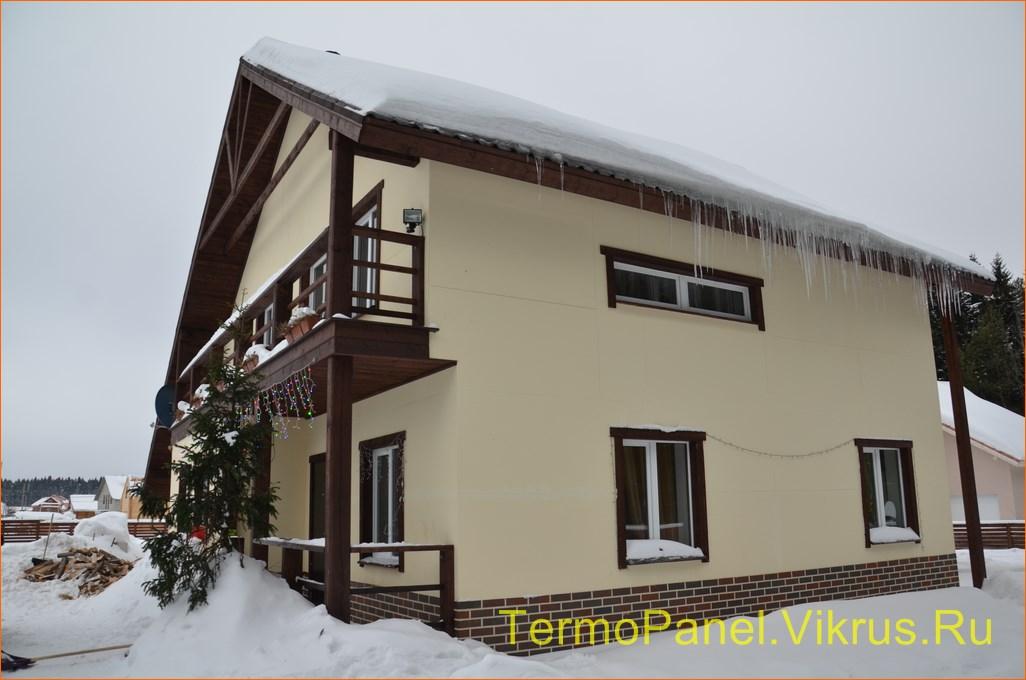 фото дома, фасад защищен панелью с акрило-полимерным покрытием 03